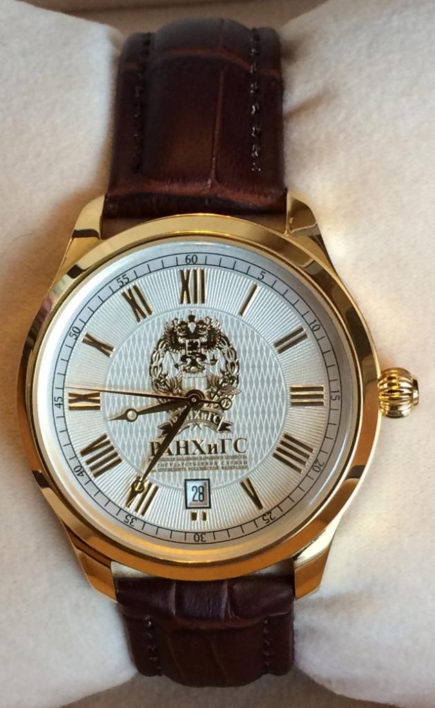 Позолоченные мужские часы наручные